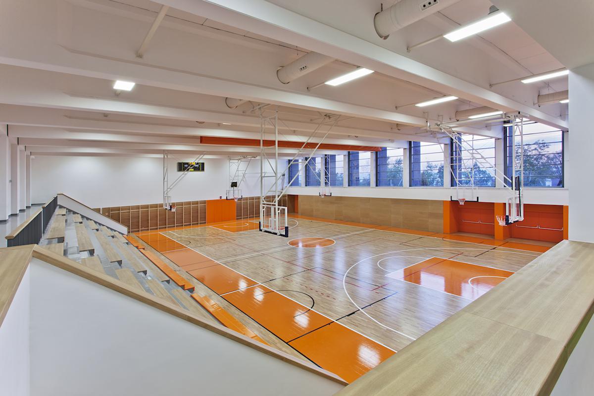 Športová hala, Pannonhalma, Maďarsko, 2014.