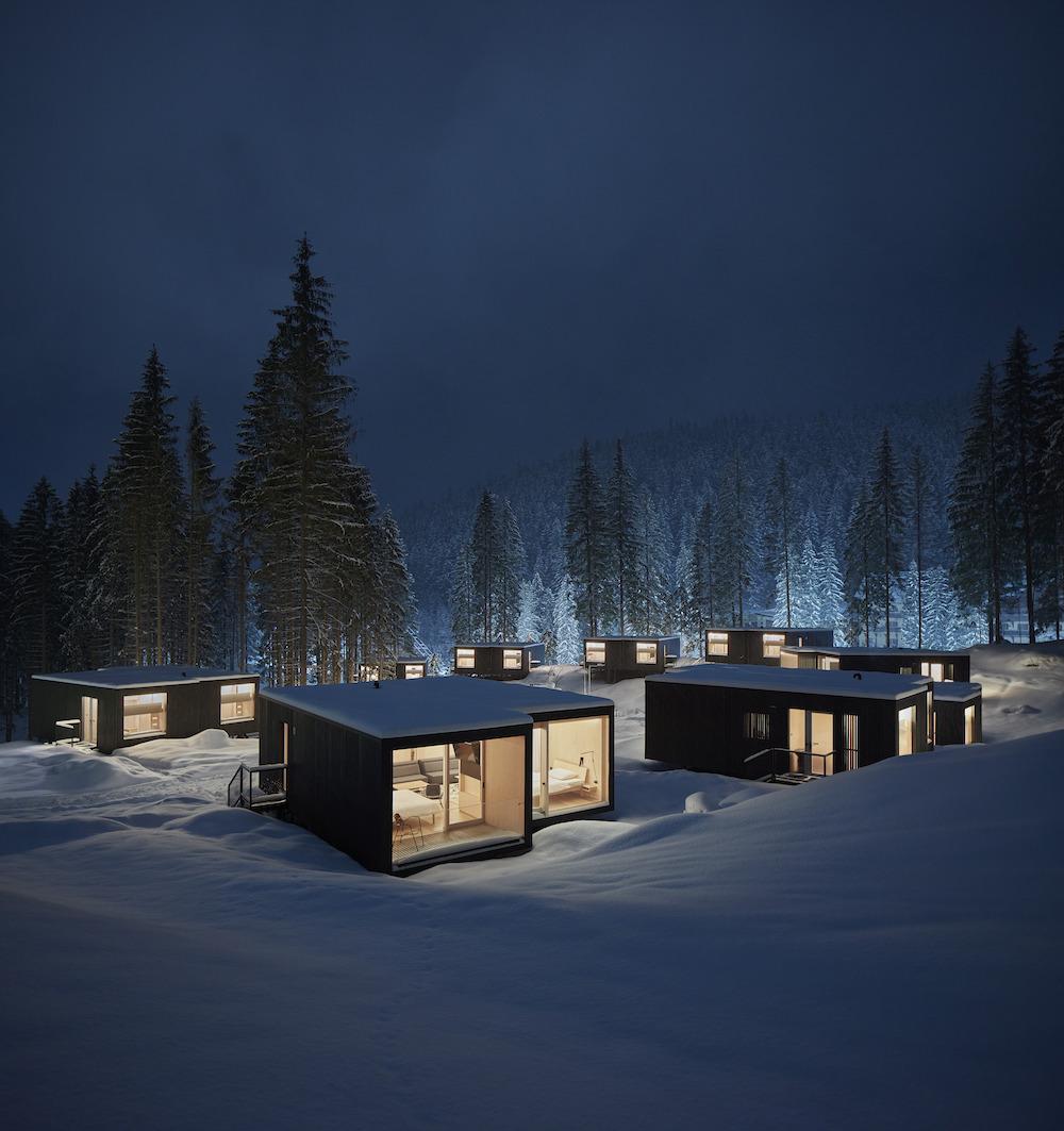 Väčšie apartmány majú k dispozícii aj terasu. Príroda je z nej skutočne len na dosah ruky.