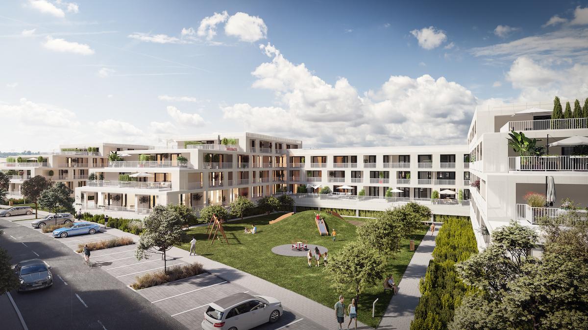 Medzi obytnými budovami vzniknú dva vnútrobloky. Práve v nich by mali byť komunitné priestory na trávenie voľného času.