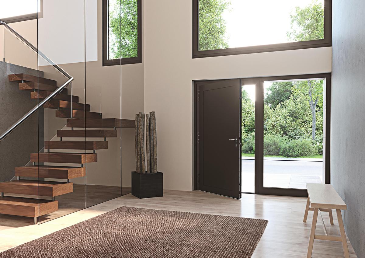 Architektenhaus Le Corbusier Haustür Milieu innen 01
