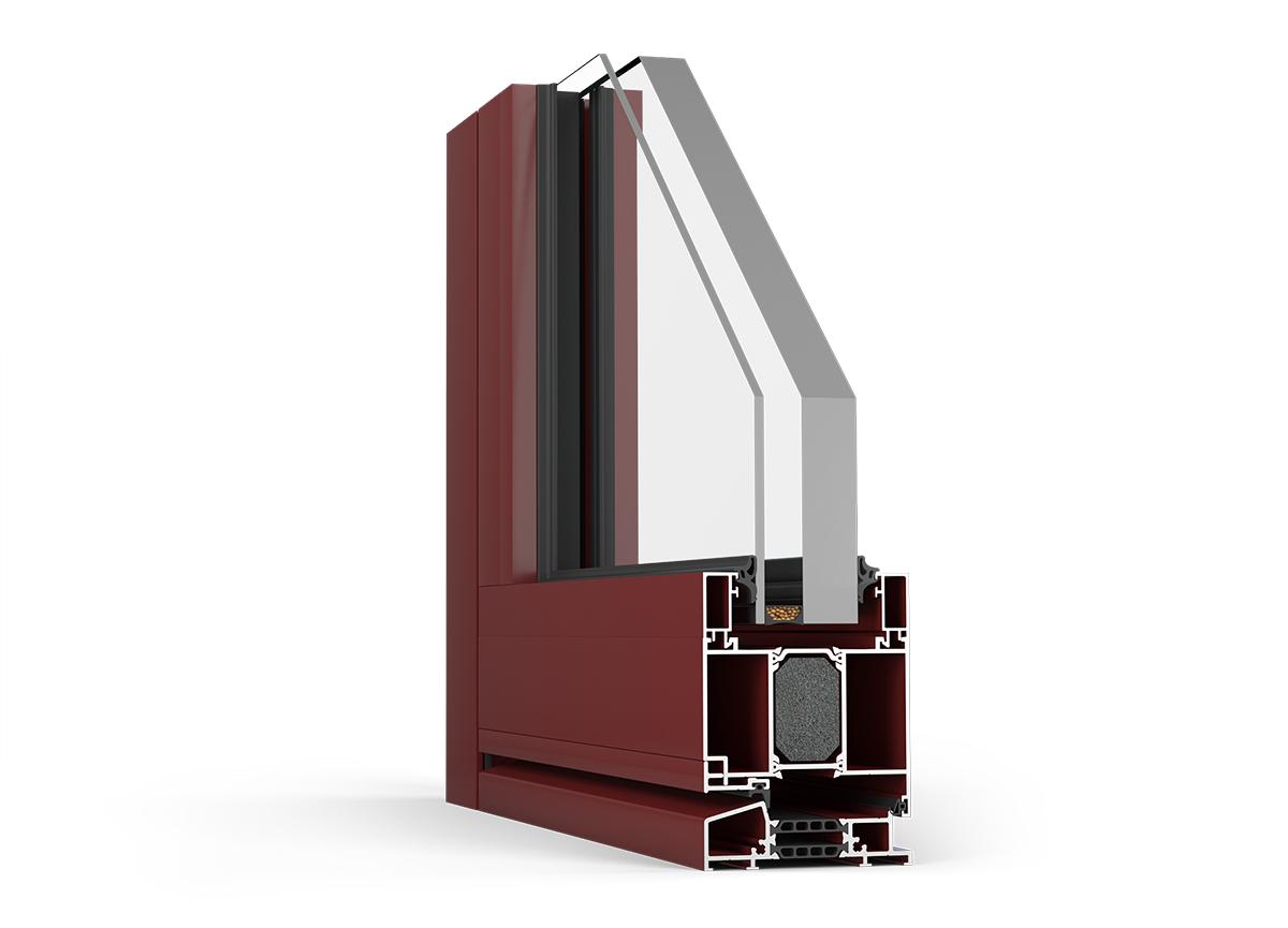 Pre tepelne izolované dvere HESTA FR90 je možné použiť zasklenie ale aj panel
