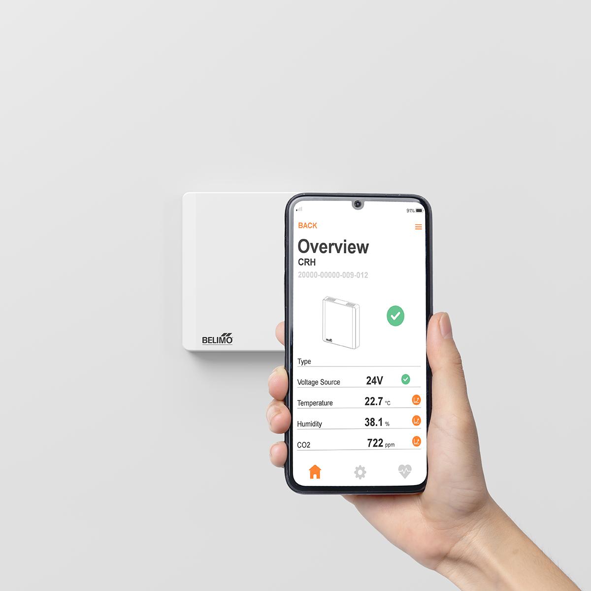 belimo room sensor wall app en