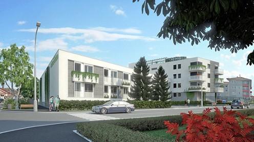 Obr. 3 Návrh nového obytného domu postaveného v pasívnom štandarde [10]