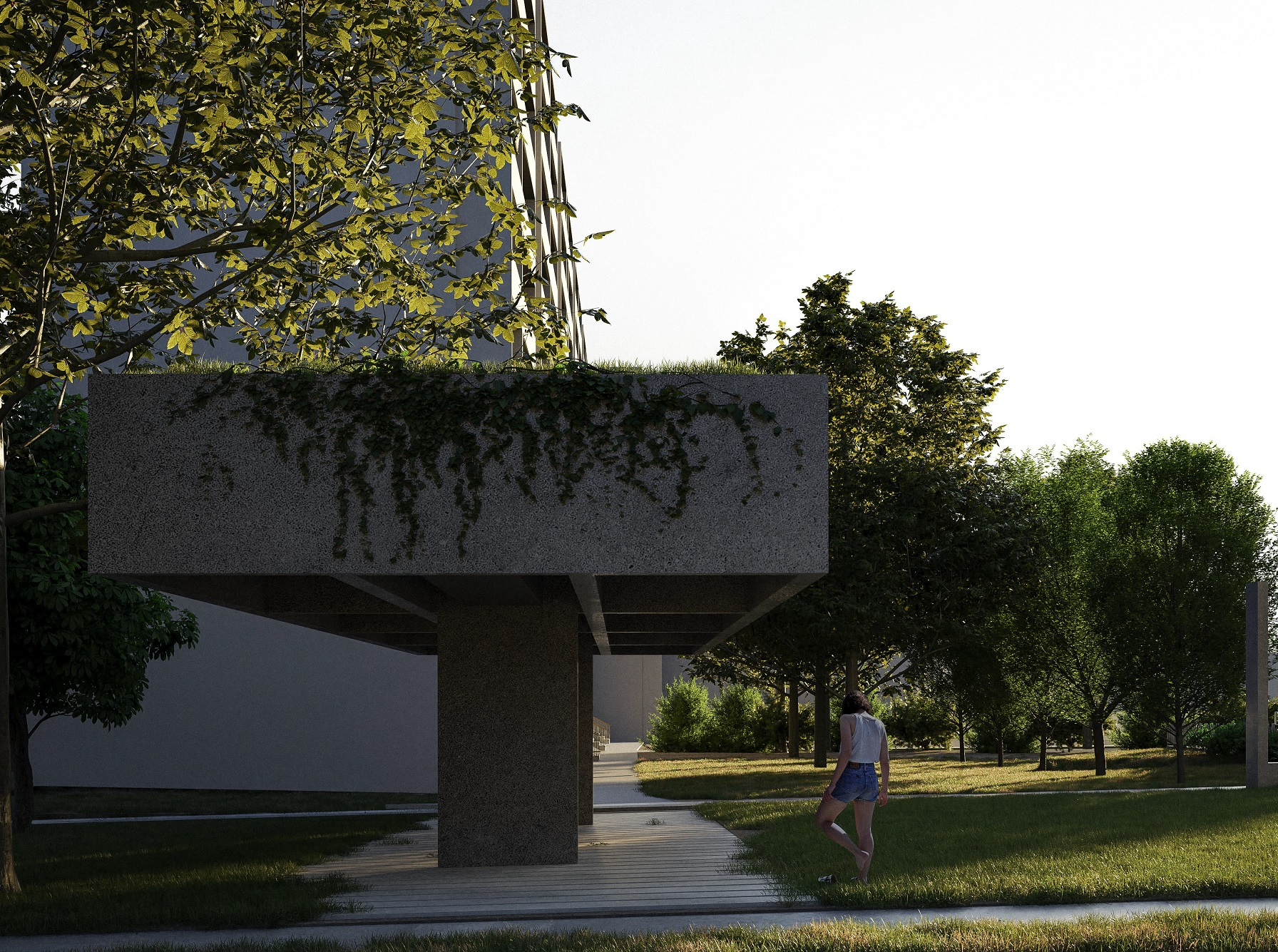 Vizualizácia multifunčného pavilónu
