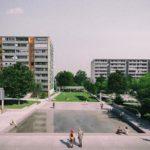 Vizualizácia verejného priestoru v okolí Domu Služieb v Dúbravke