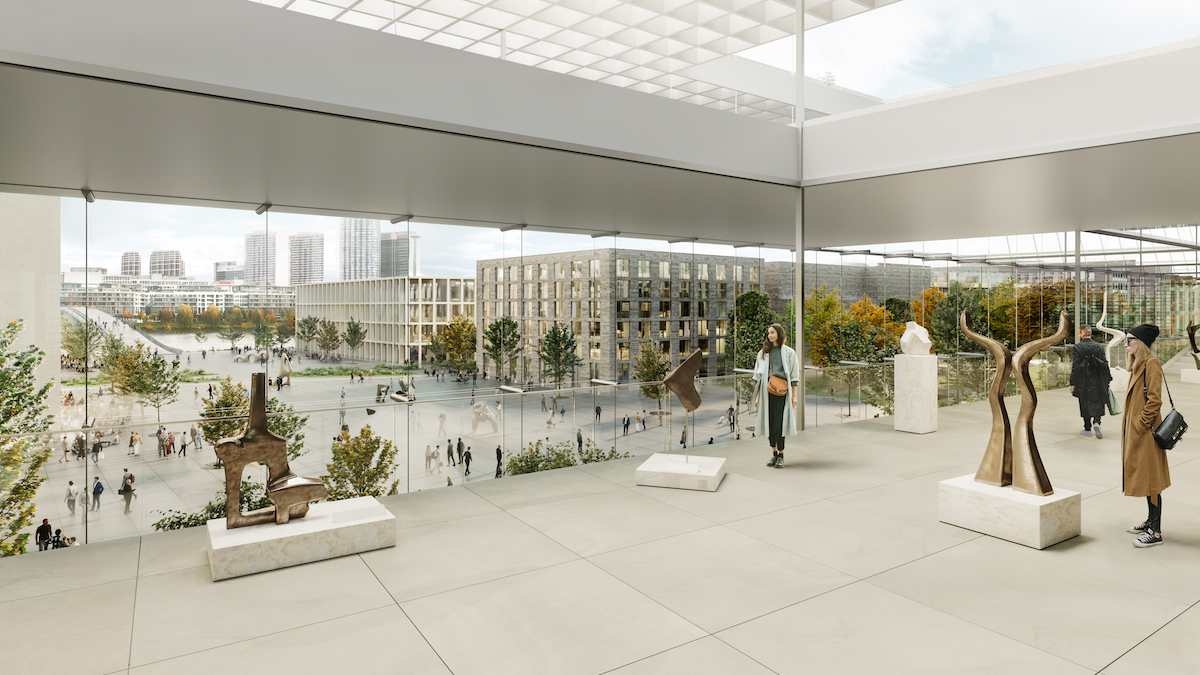 Vizualizácia kultúrneho a kongresového centra v Novom Lide − vystavné priestory.