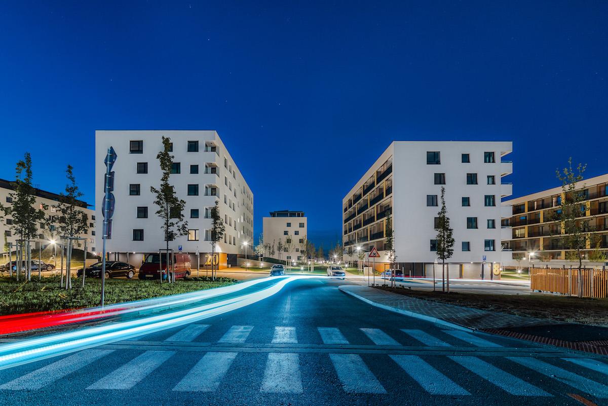 Bory Prvé Domy – prvá dokončená rezidenčná etapa projektu Bory Bývanie, Bratislava, 2019.