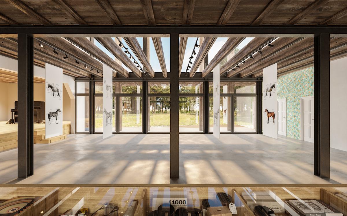 Galerijný priestor v srdci objektu mu dodáva vzdušnosť a nadčasovosť.