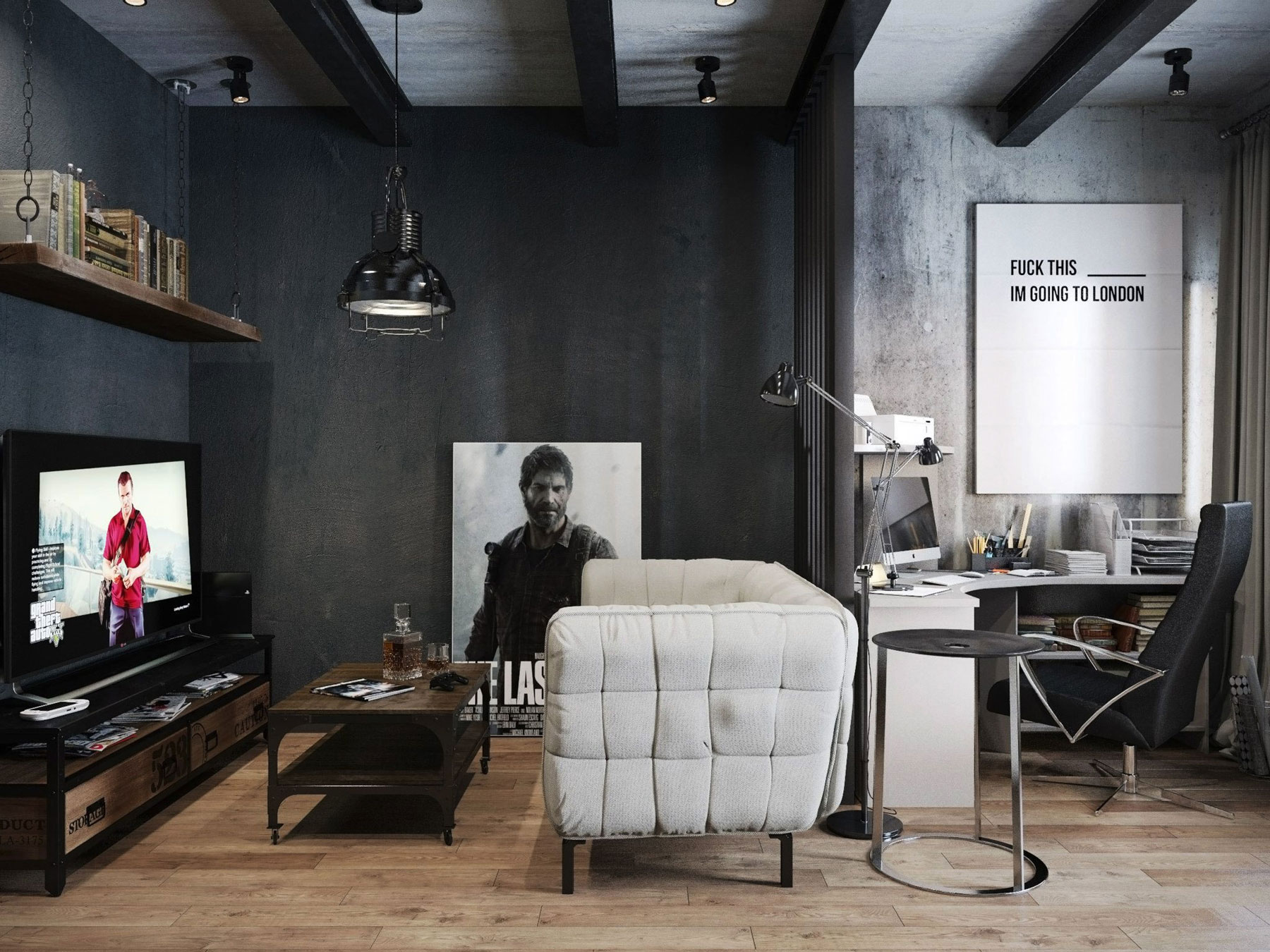 gaming living room