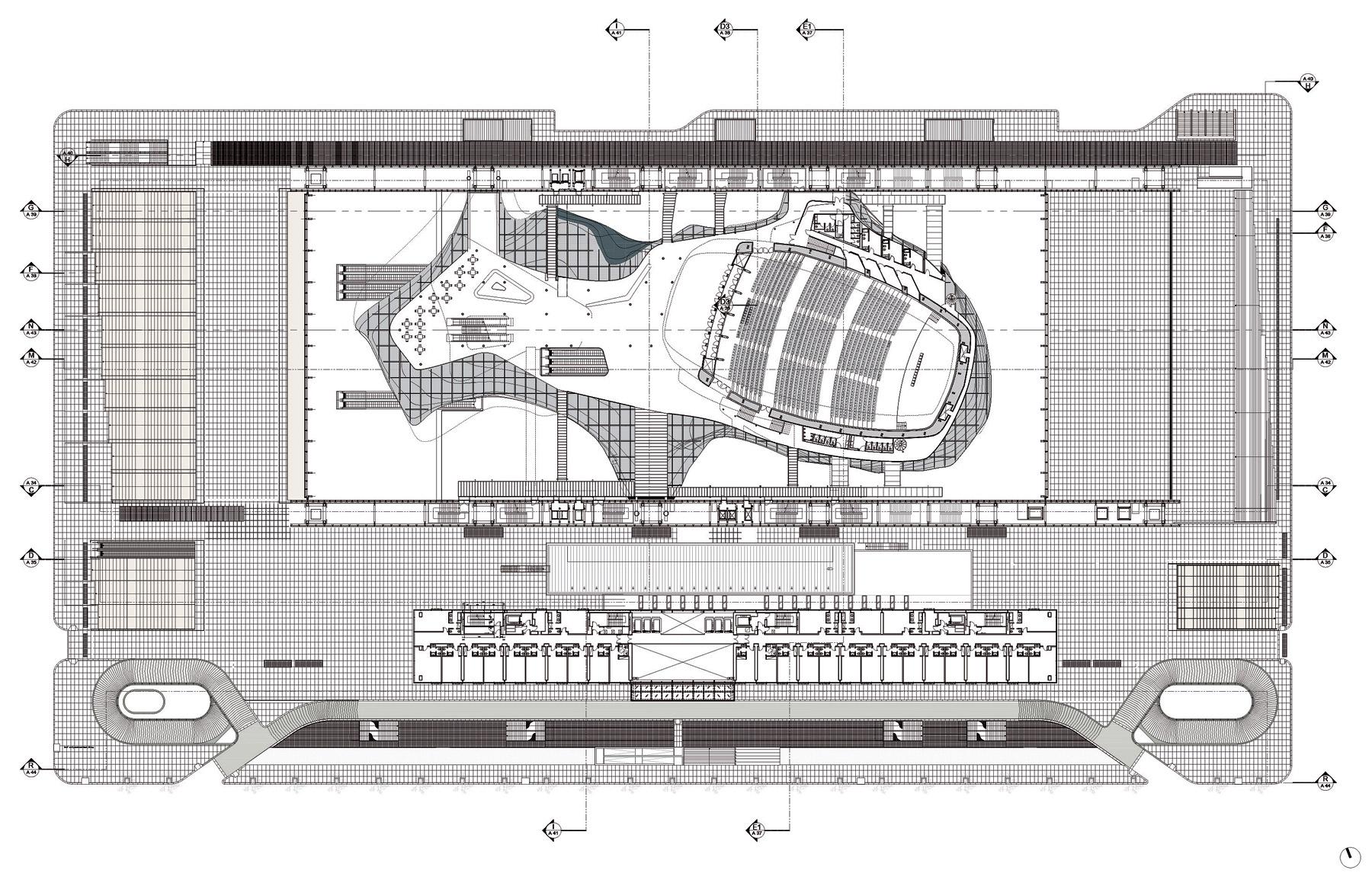 Studio Fuksas PA06 N 3 Plan Level 3 quota 45 66