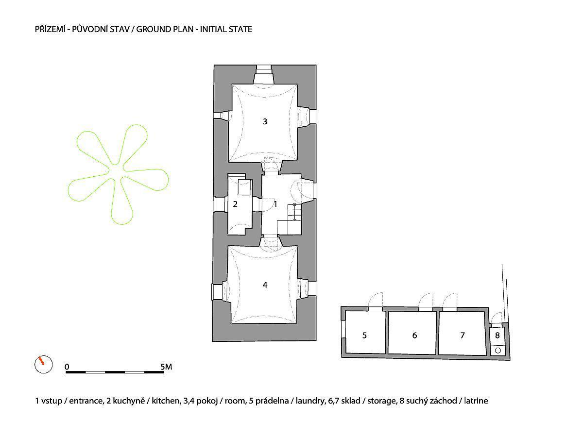 A1 W WRK ARC HOUSE PRAGUE A1HOUSE P GROUNDPLAN INITIALSTATE
