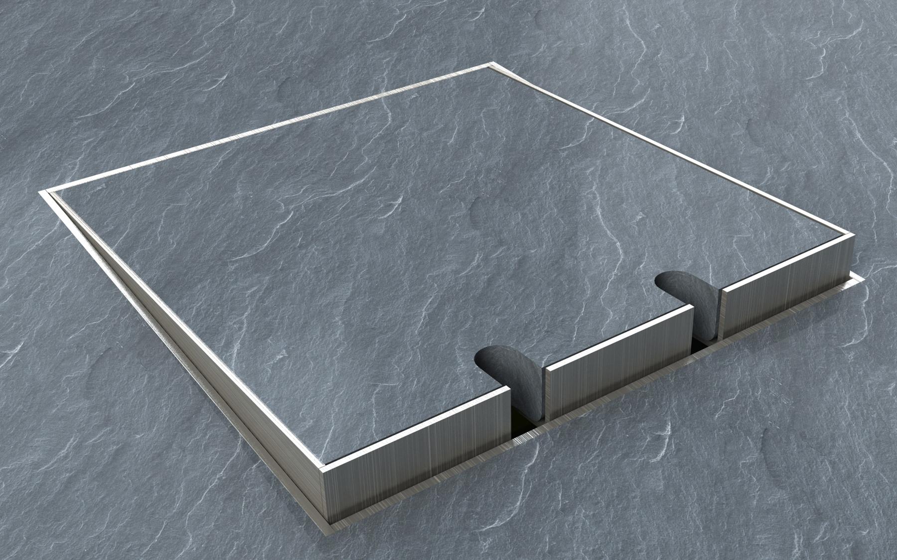 podlahova zasuvka interier STAKOHOME 8901 E kamen
