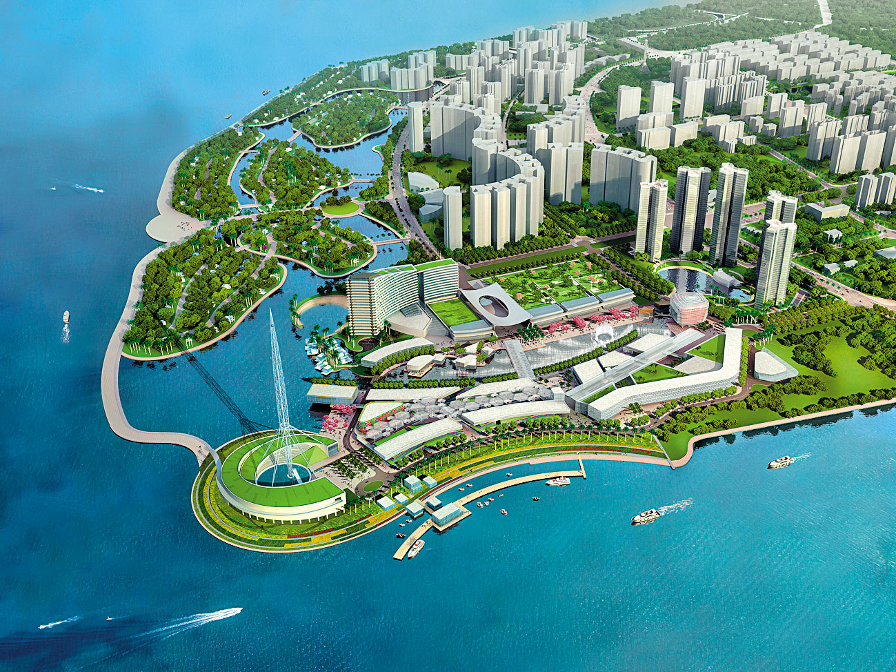Haikou Meilisha Waterfront, Hainan Island (SOM)