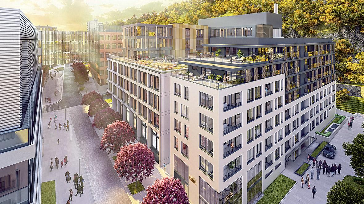 6a9320af6 Zuckermandel, Bratislava Výstavba: 2014 – 2017 Dobudovaním lokality na  polyfunkčné centrum dôjde k prepojeniu