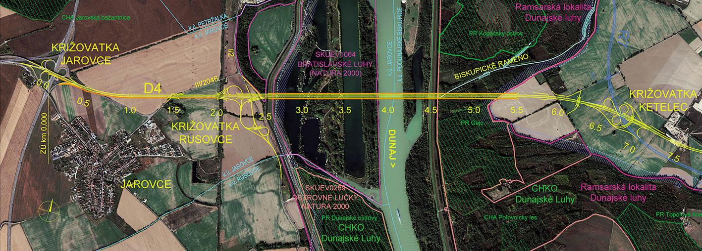Obr 2 Dialnica D4  Bratislava  Jarovce   Ivanka sever  km 0 000   7 1