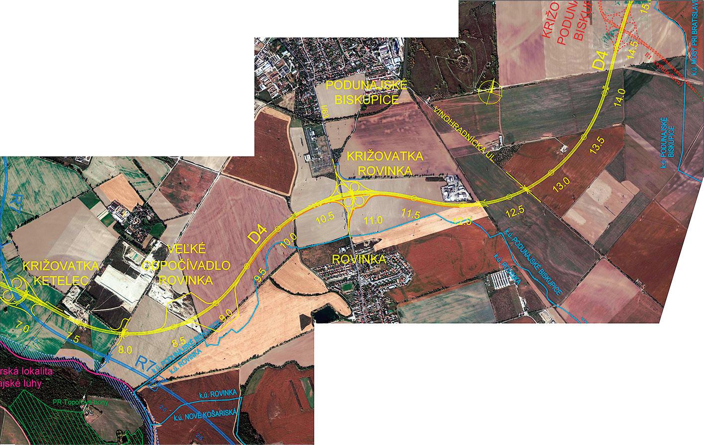 Obr 3 Dialnica D4 Bratislava Jarovce Ivanka sever km 7 500 14 1