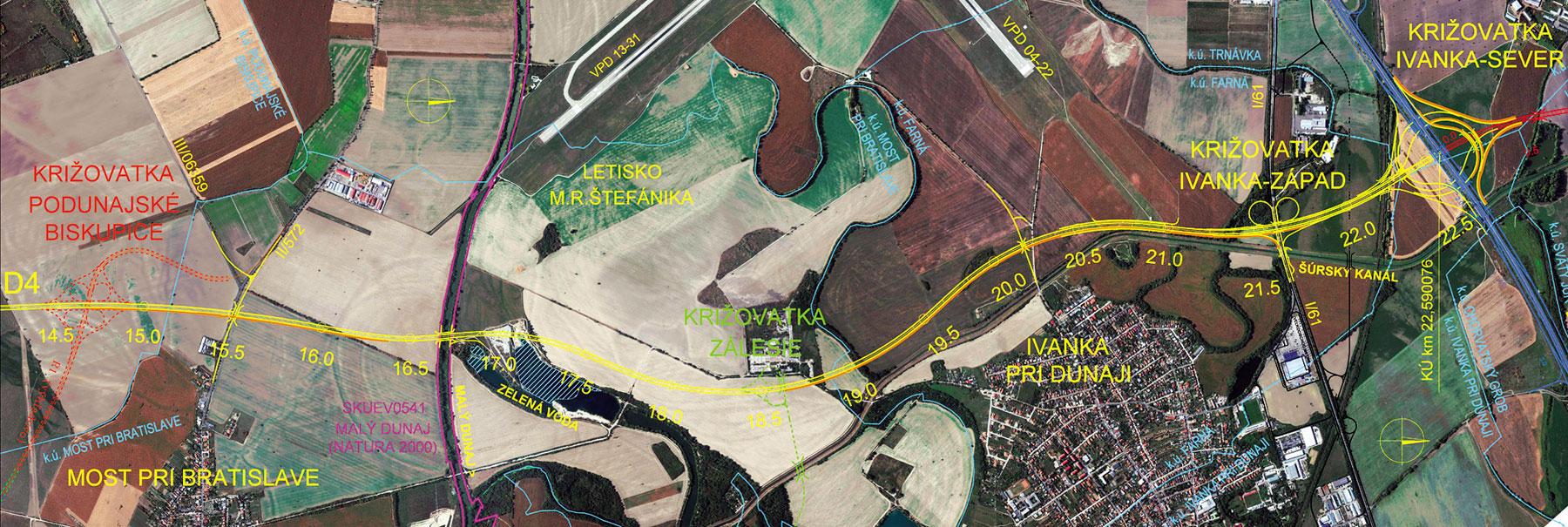 Obr 4 Dialnica D4  Bratislava  Jarovce   Ivanka sever  km 14 500   22 1