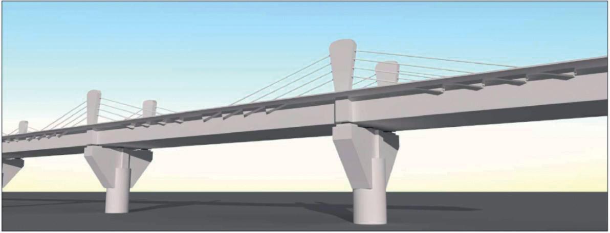 Obr 2 Vizualizacia mosta