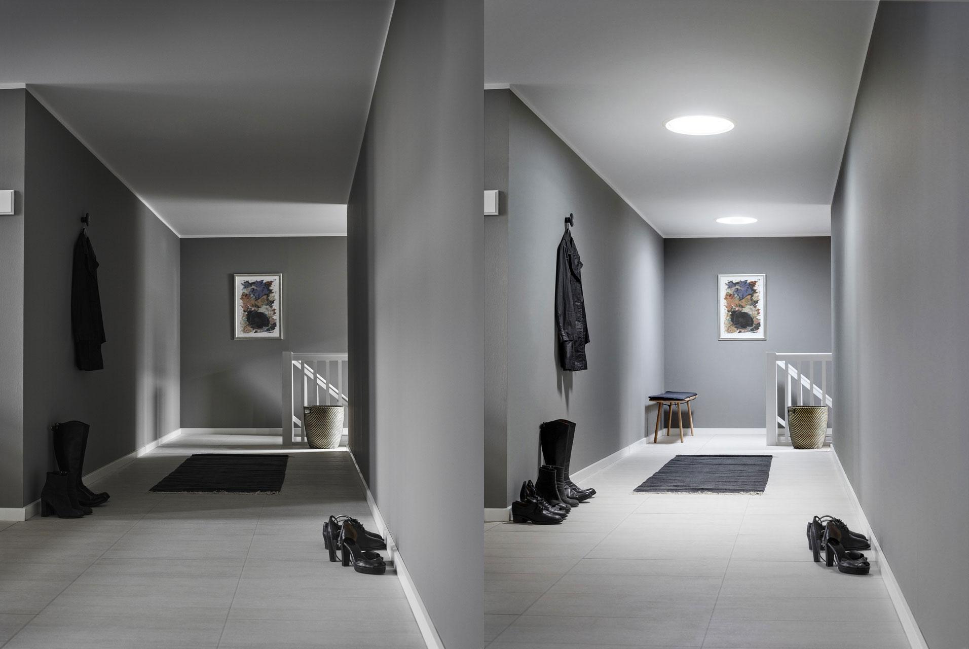 a3dbfb55a Osvetlením chodby denným svetlom možno znížiť svietenie o 400 hodín za rok.  Pokiaľ sa dosiahne optimálne presvetlenie celého domu na úrovni  odporúčaných ...