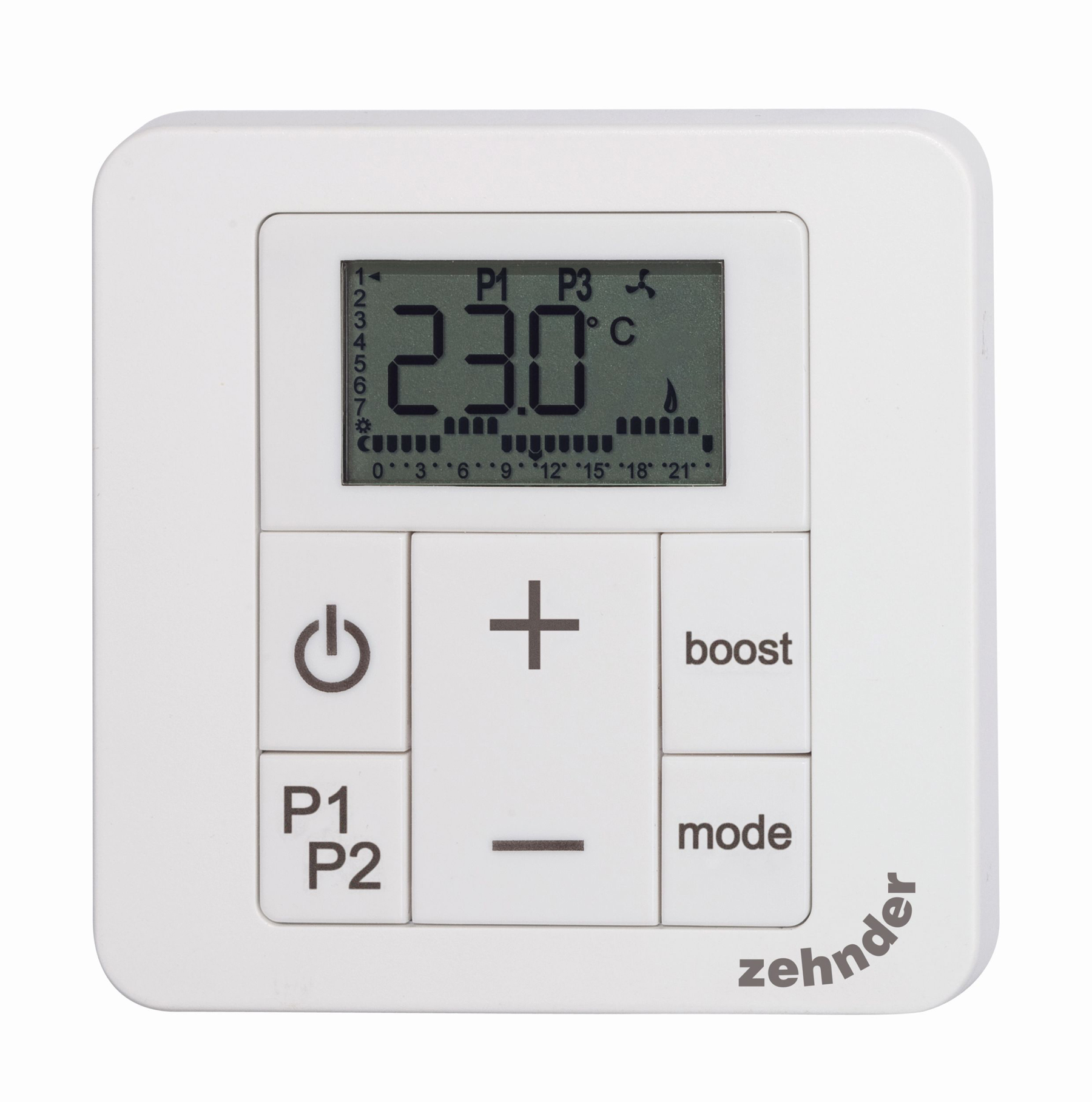 Zehnder RAD control panel model 2 white Print 1