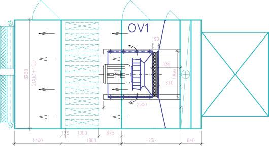 Obr 1 osadenie ventilatora Comefri pozicia OV1
