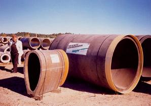 Bezvýkopová výstavba podzemných vedení - Typy rúr na hydraulické pretláčanie