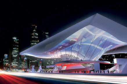 Busan Cinema Center - Plávajúca strecha nad mestským priestorom