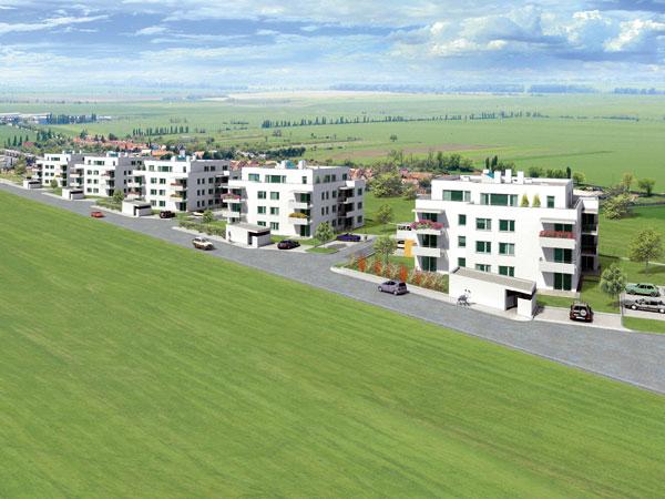 Bytové domy pri Trnave na novopostavenej ulici