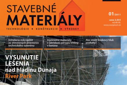 Časopis Stavebné materiály 1/2011 v predaji
