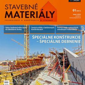 casopis stavebne materialy 1 2013 v predaji