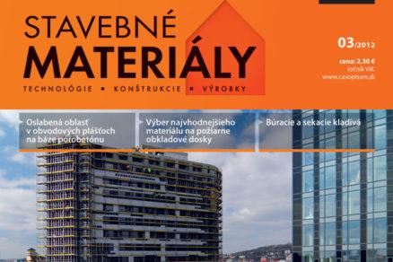 casopis stavebne materialy 3 2012 v predaji