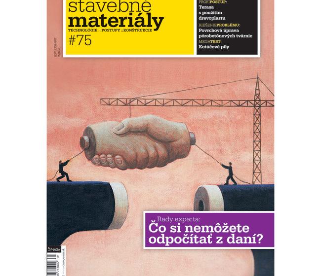casopis stavebne materialy s novym logom obsahom aj layoutom