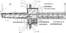Detail styku balkónovej dosky a stropu