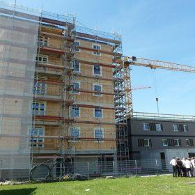 drevena konstrukcia pre 7 podlazny bytovy dom vo viedni
