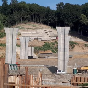Betónové konštrukcie na stavbe D1 Prešov, západ – Prešov, juh