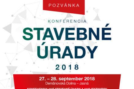 Pozvánka na konferenciu Stavebné úrady 2018