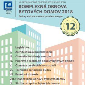 Pozvánka na konferenciu Komplexná obnova bytových domov 2018
