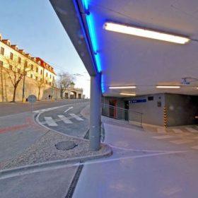 ipp park hrad podzemna verejna garaz