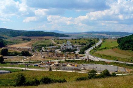 Mimoúrovňová križovatka Prešov-západ na diaľnici D1