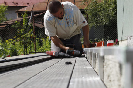 montazny postup terasa s pouzitim drevoplastu