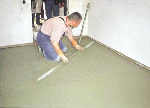 Realizácia cementových poterov