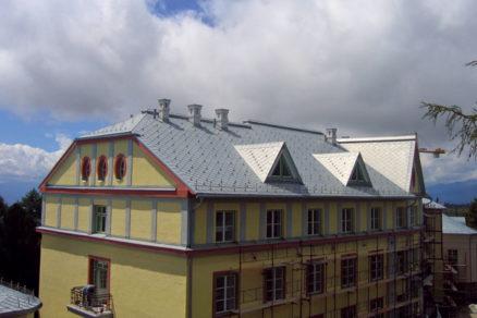 Rekonštrukcia strešnej krytiny liečebného komplexu Hviezdoslav