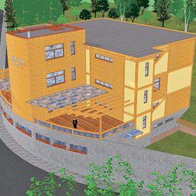 skeletova konstrukcia zakladnej skoly na plani