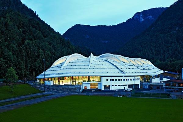 stadion pre rychlokorculiarov v meste inzell