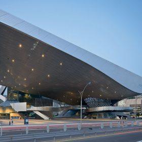 strecha ako virtualna obloha cinema center v busane