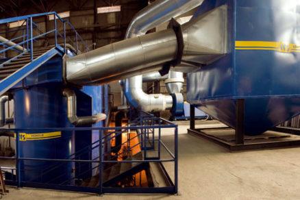 Výroba tepla v horúcovodnom kotle VESKO B – 8 MW s využitím biomasy