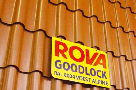 Zlatá plaketa pre plechovú strešnú krytinu Goodlock